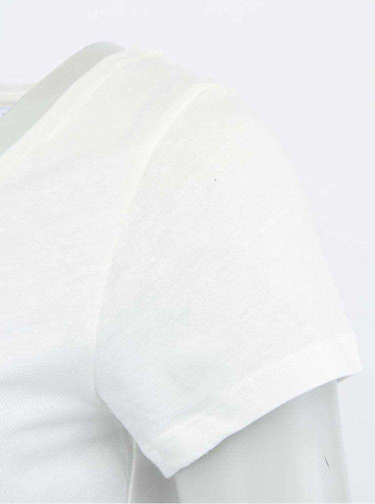 Bílé tričko s potiskem VERO MODA Must Have