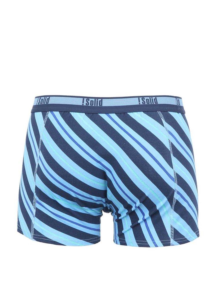 Modré boxerky so šikmými pruhmi !Solid Jaron