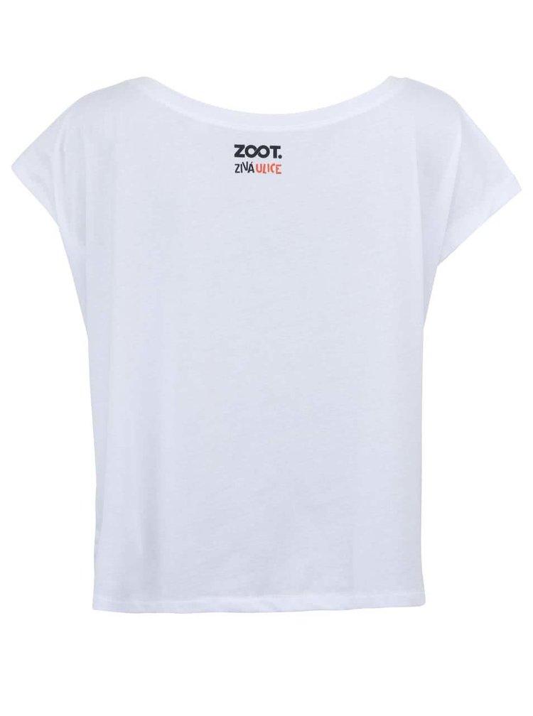 Biele dámske tričko ZOOT Živá ulica Krígeľ