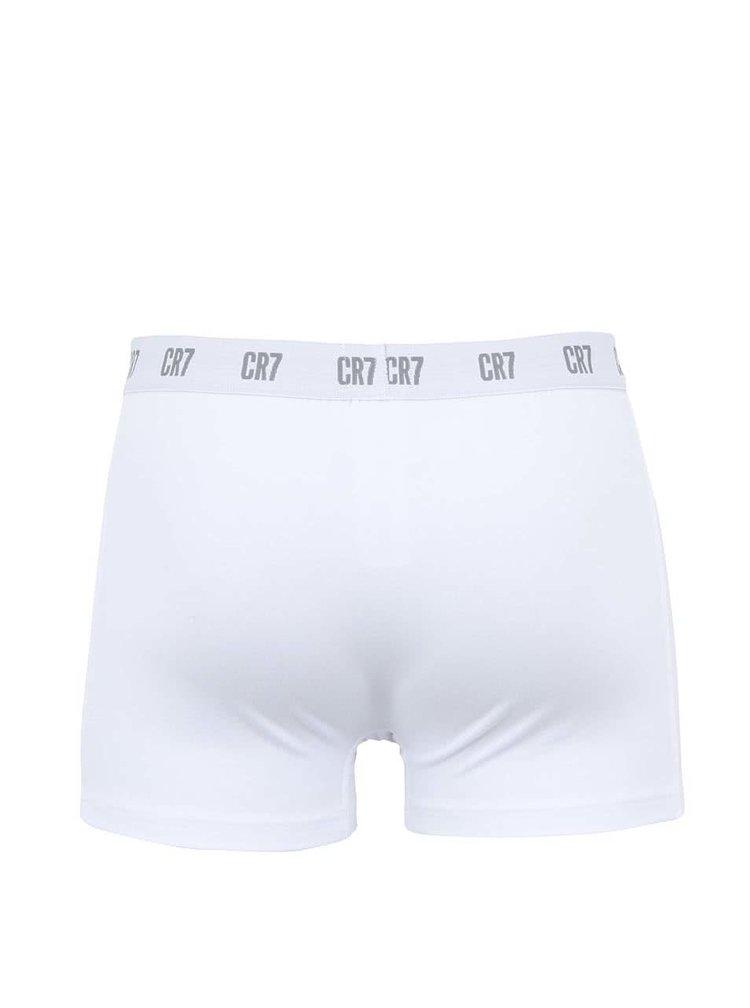 Súprava troch boxeriek v bielej farbe CR7