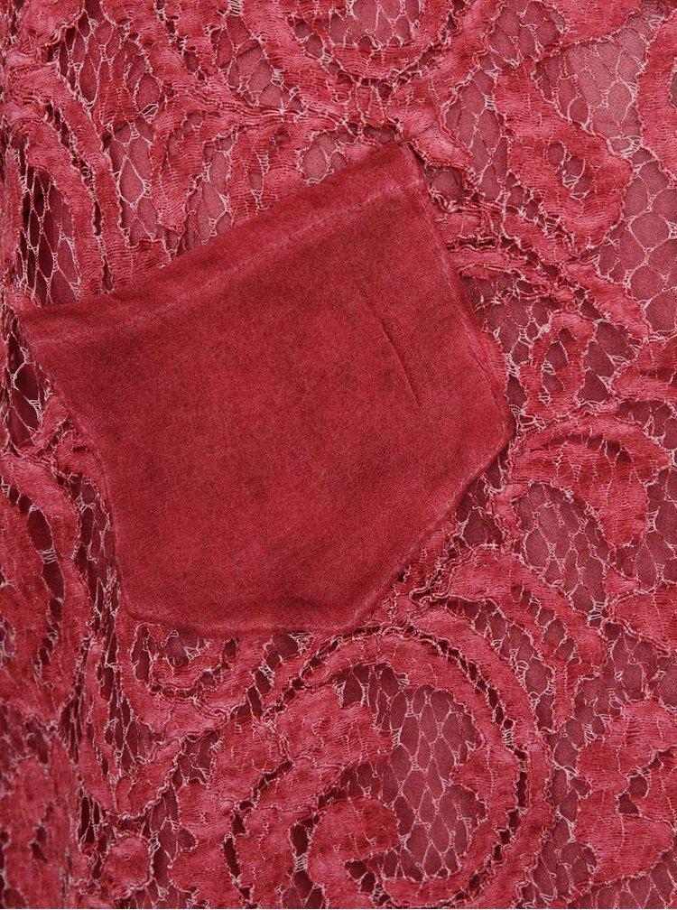 Červené krajkové tílko Cream Lone