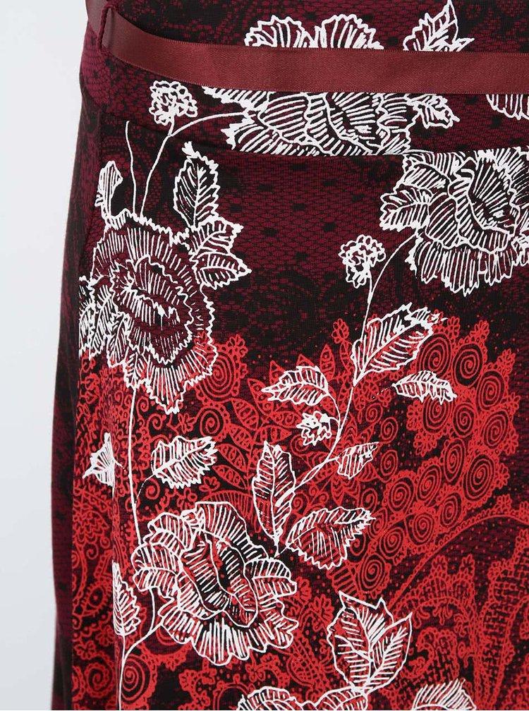 Vínová sukňa s ornamentmi Desigual Sacha