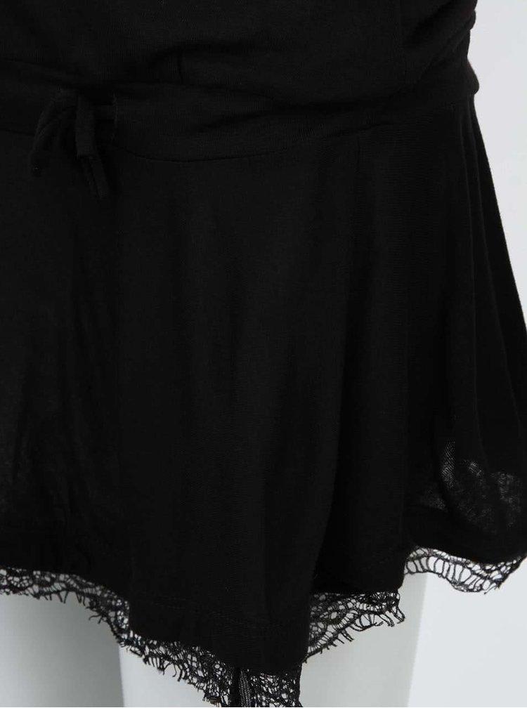 Černá tunika s krajkovým volánem Desigual Maron