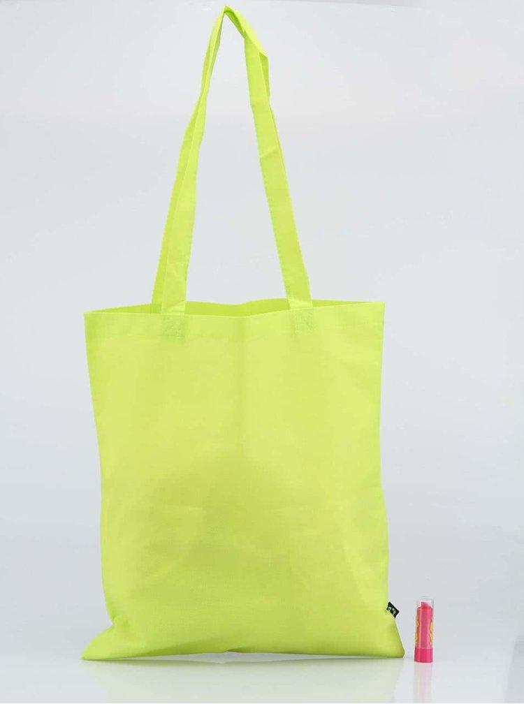 Limetkovo-zelená taška ROCK FOR PEOPLE