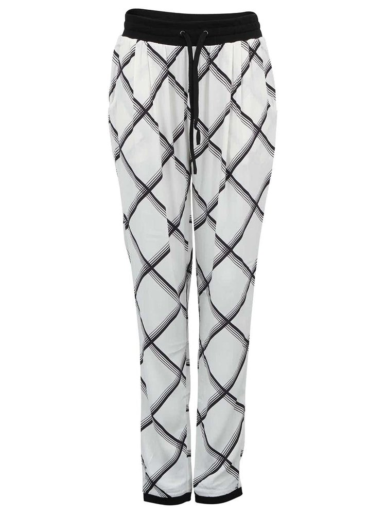 Biele voľnejšie nohavice so vzorom Y.A.S Ginny