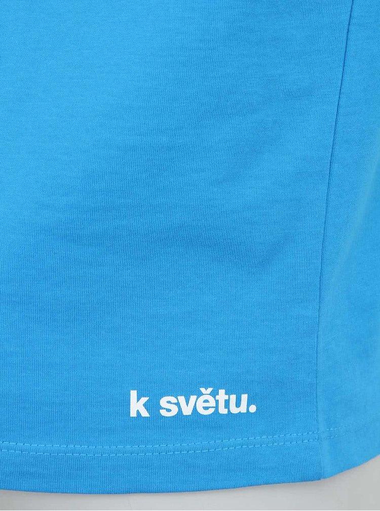 """Dobré"" modré pánske tričko Náplavka K svetu"