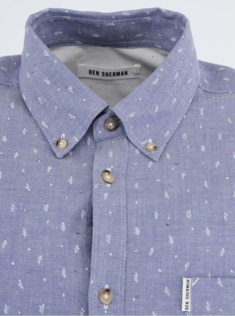 Pánska modrá košeľa s jemným vzorom Ben Sherman