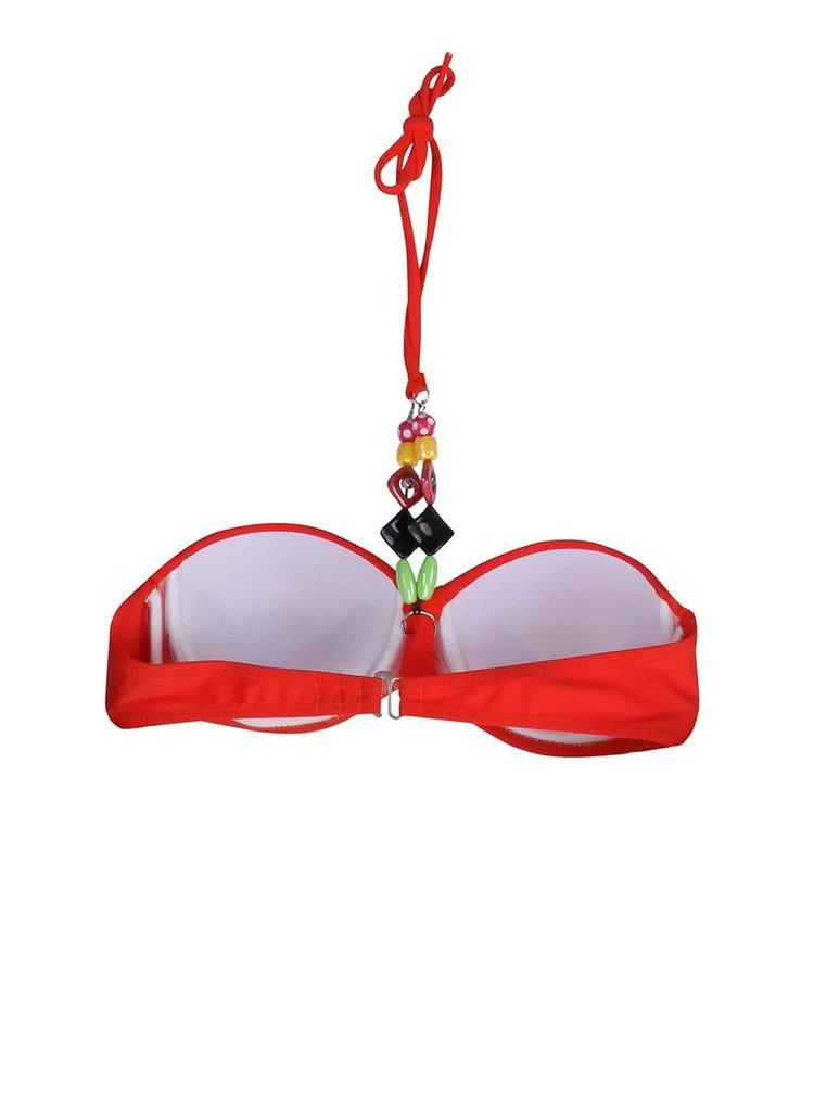 Červené plavky s farebnými korálikmi Relleciga Rellicious