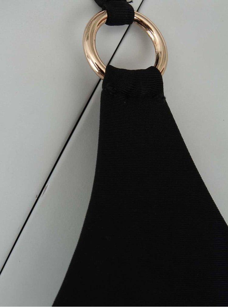 Černé dvoudílné plavky s kroužky ve zlaté barvě Relleciga Cherry