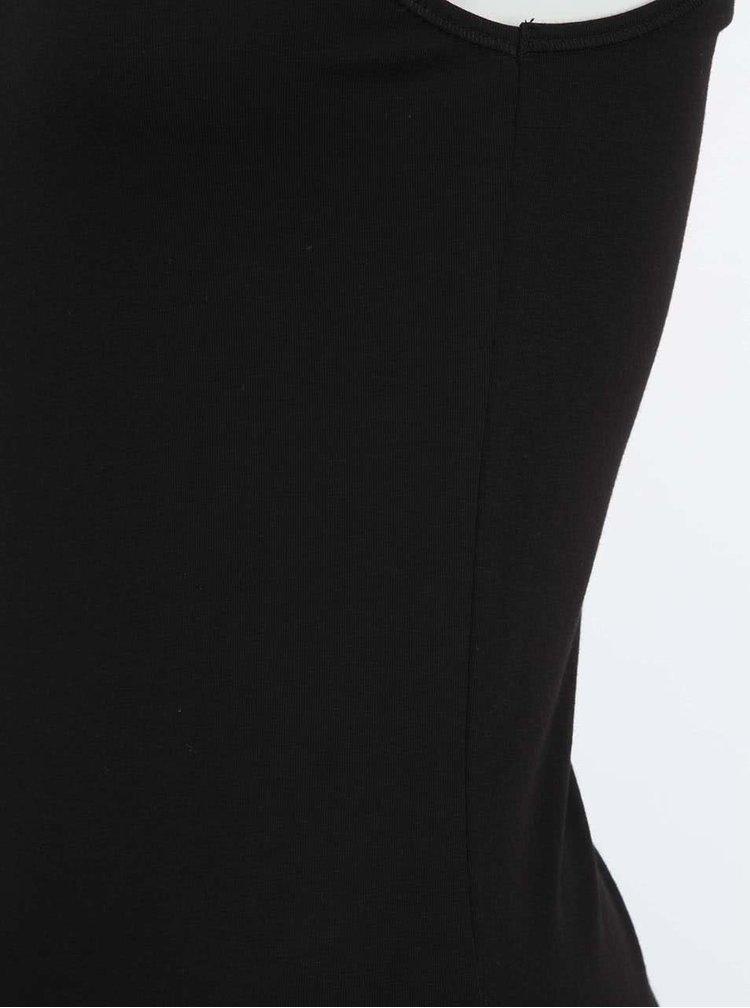 Tricou negru fara maneci VERO MODA cu dantela