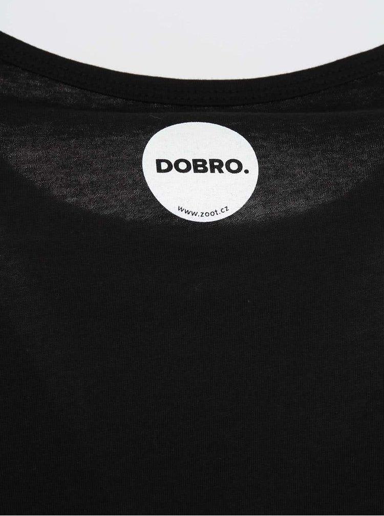 """""""Dobré"""" pánské černé triko K světu"""