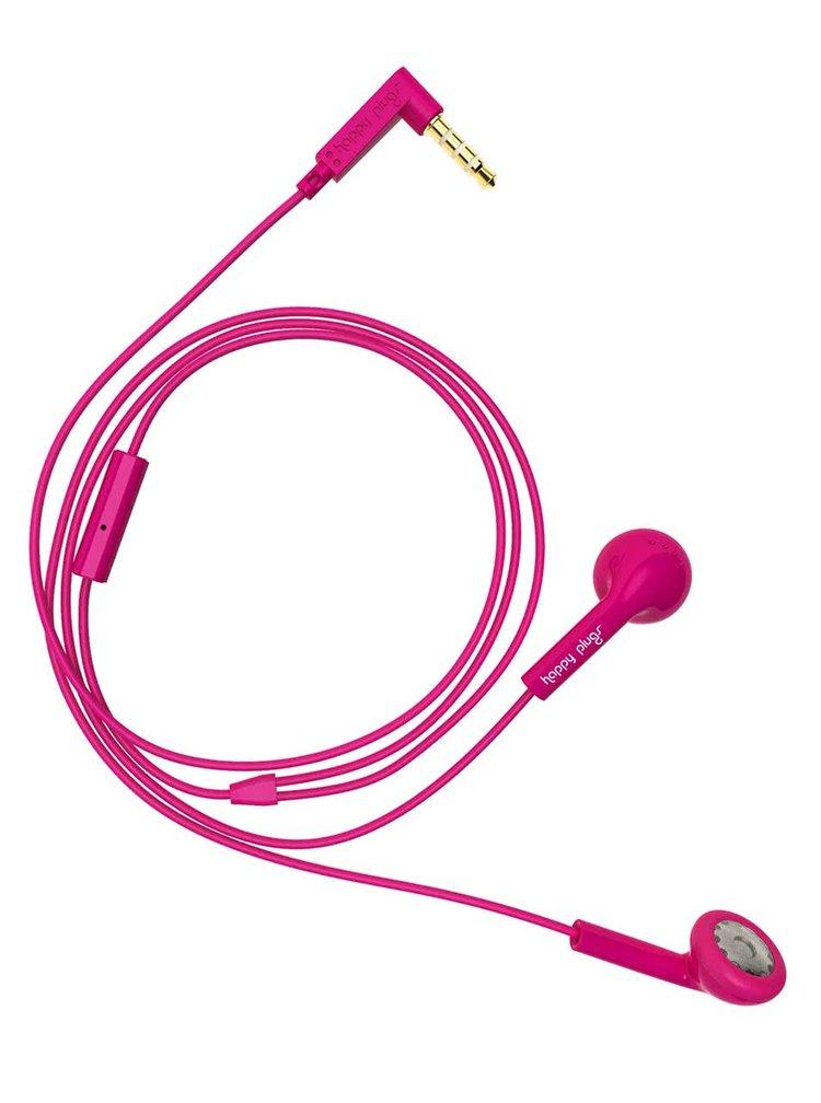 Růžová Earbud sluchátka Happy Plugs