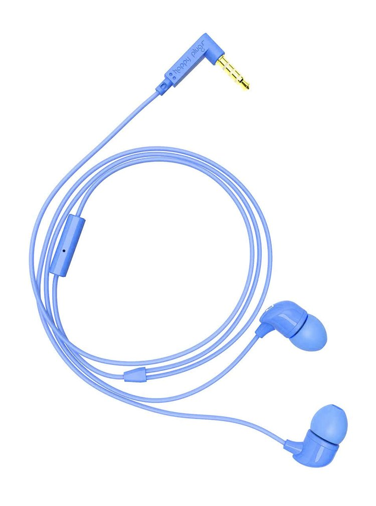 Světle modrá In-Ear sluchátka Happy Plugs