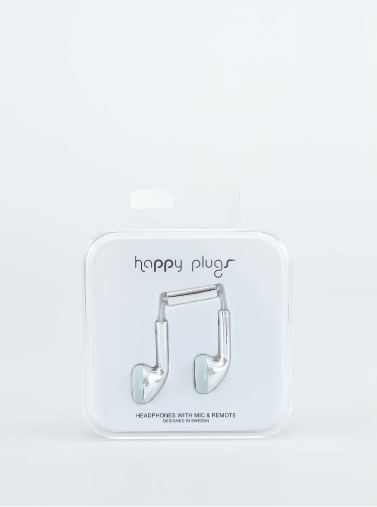 Casti Happy Plugs argintii