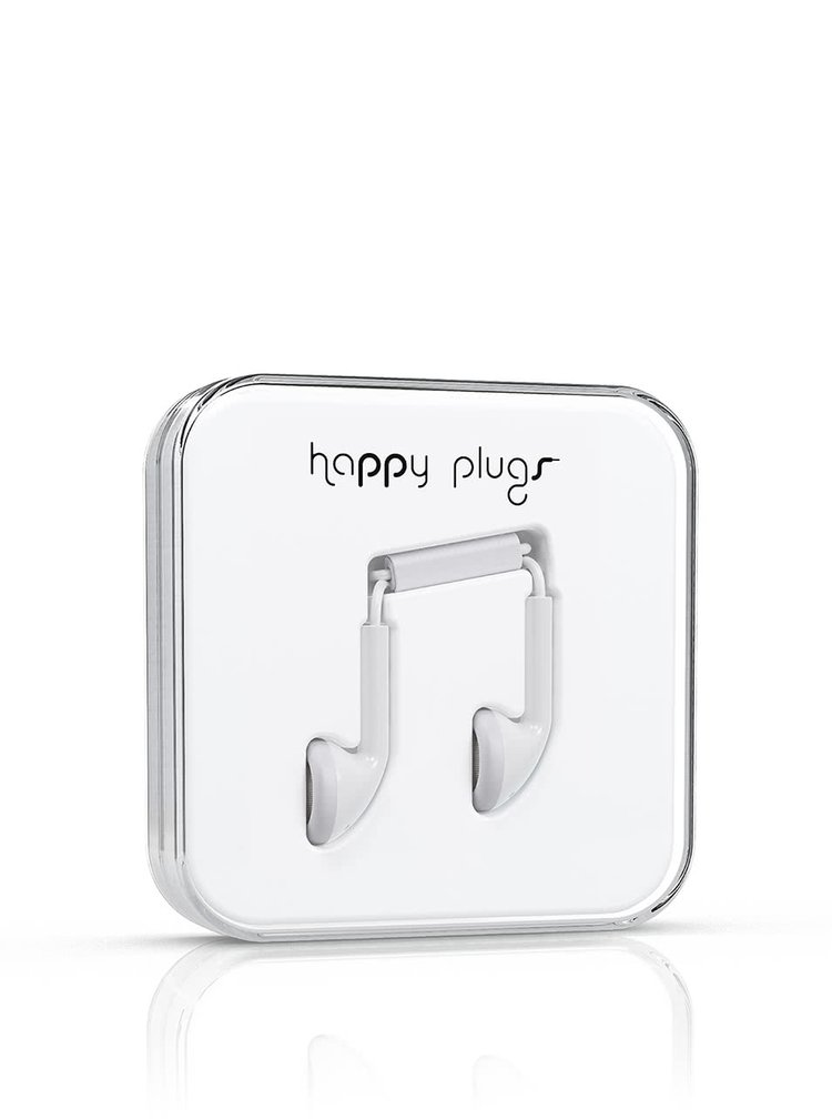 Căști Happy Plugs albe
