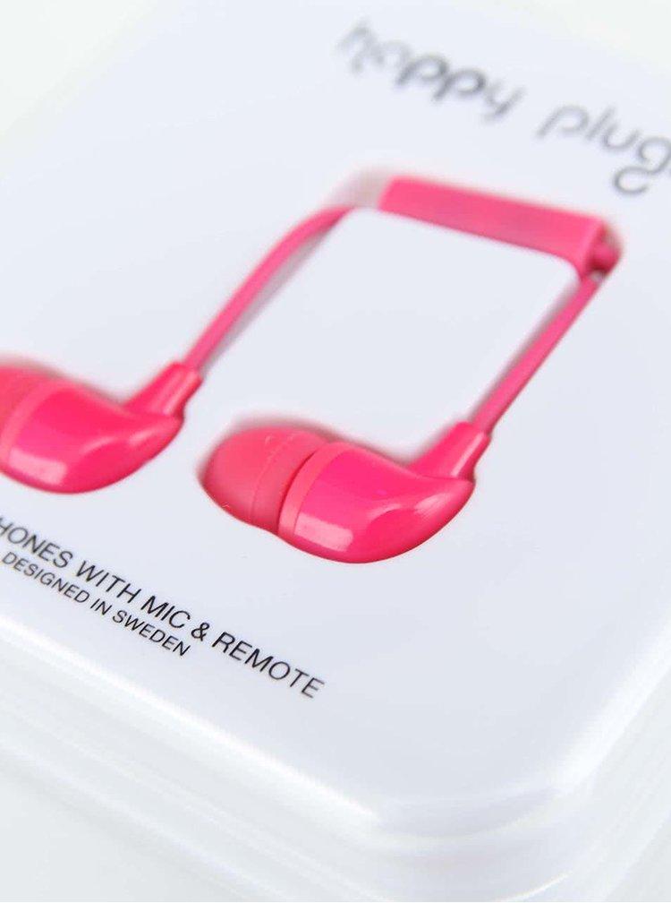 Ružové In-Ear slúchadlá Happy Plugs