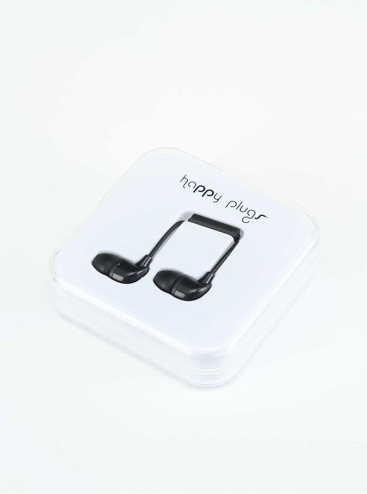 Černá In-Ear sluchátka Happy Plugs