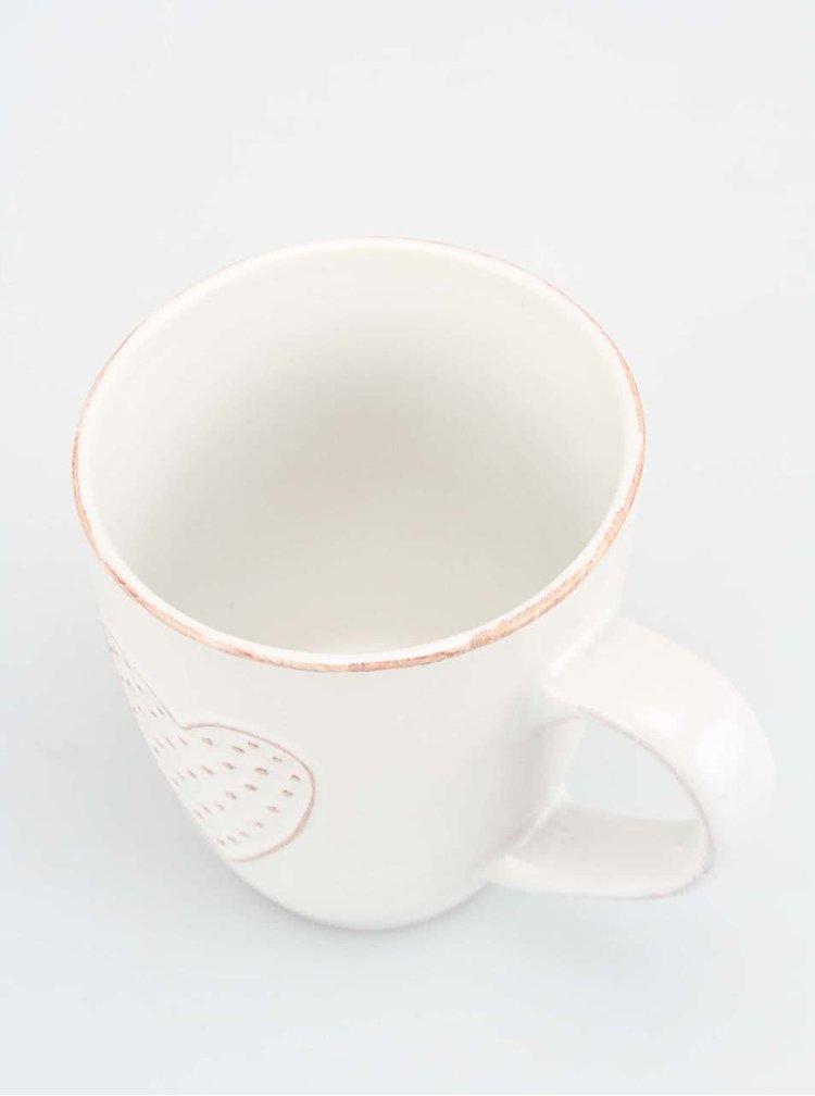 Menší biely hrnček so srdiečkom Dakls