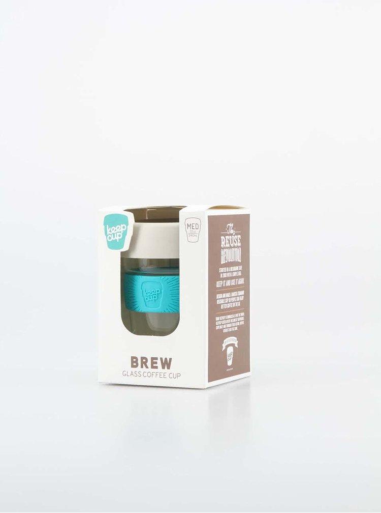 Designový cestovní skleněný hrnek KeepCup Brew Green Medium