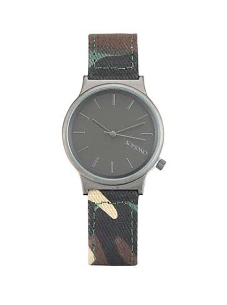 Hnedo-zelené maskáčové hodinky Komono Wizard