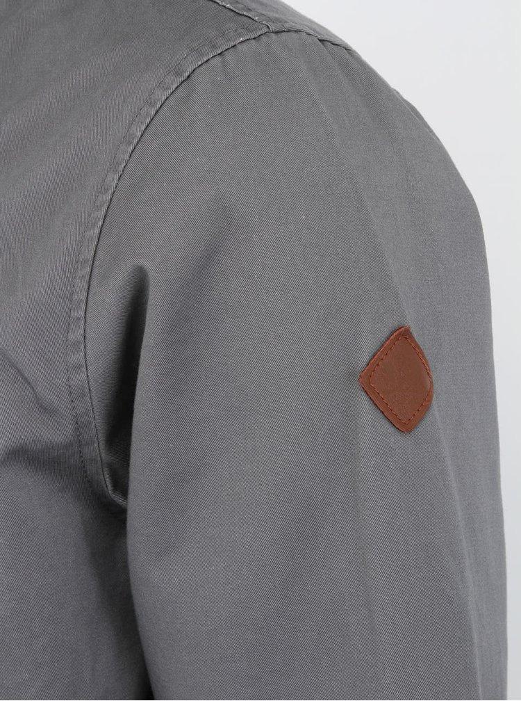 Pánska sivá bunda  Bellfield Wilson s originálnou podšívkou