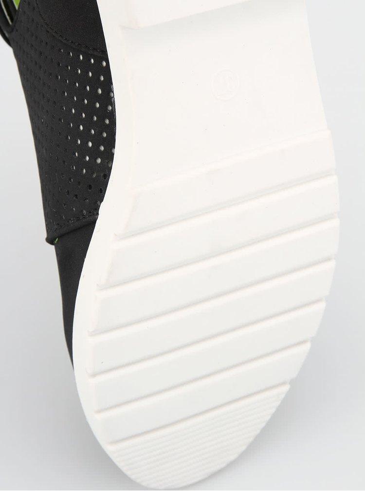 Dámské černé boty s průstřihy Bellfield Kusu