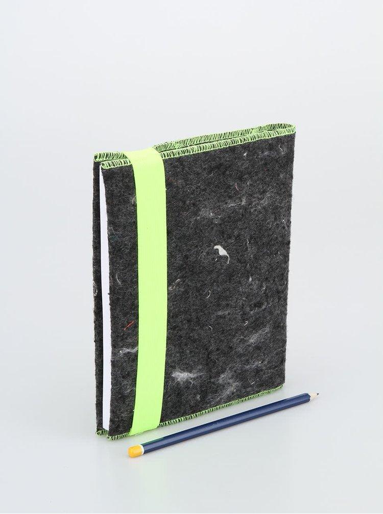 """""""Dobrý"""" zápisník FOREWEAR so žltou gumou"""