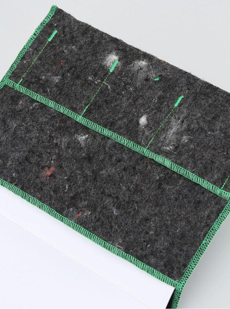 """""""Dobrý"""" zápisník FOREWEAR se zelenou gumou"""