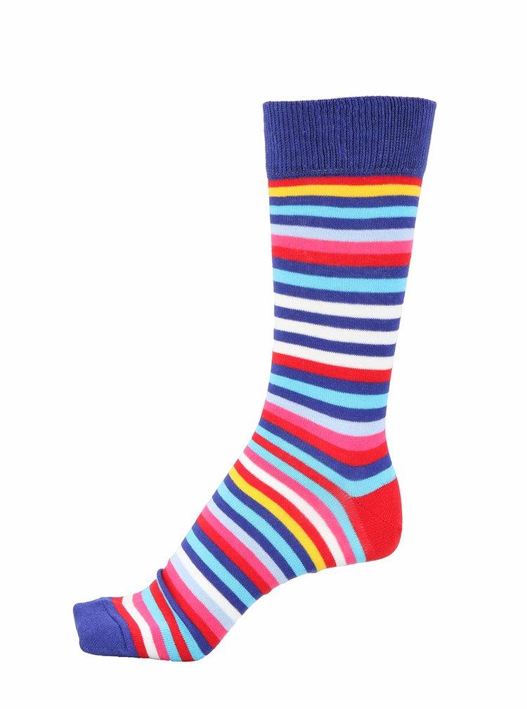 Kolekcia troch pánskych ponožiek ladených do modra Oddsocks George