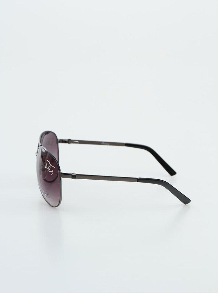 Ochelari de soare negri Gionni cu strasuri