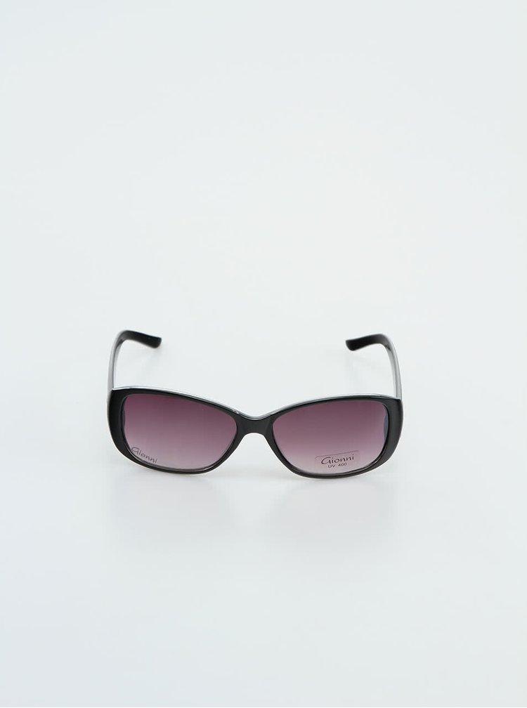 Černé dámské brýle se zebřím vzorem Gionni