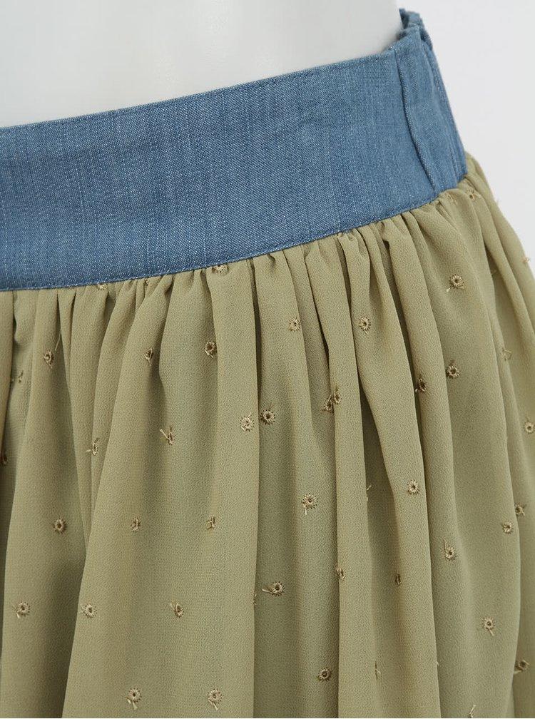 Olivová sukně Silvian Heach Keiriz