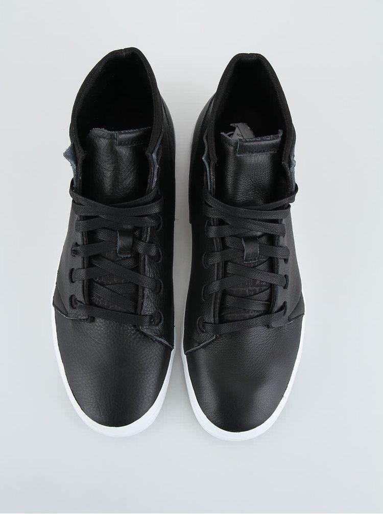 Čierne pánske kožené tenisky Volcom Buzzard