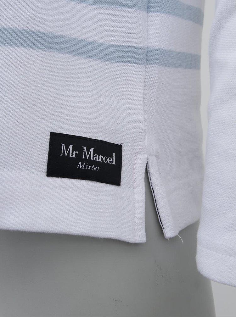 Biely pánsky sveter s lebkou Mr Marcel Tinavy