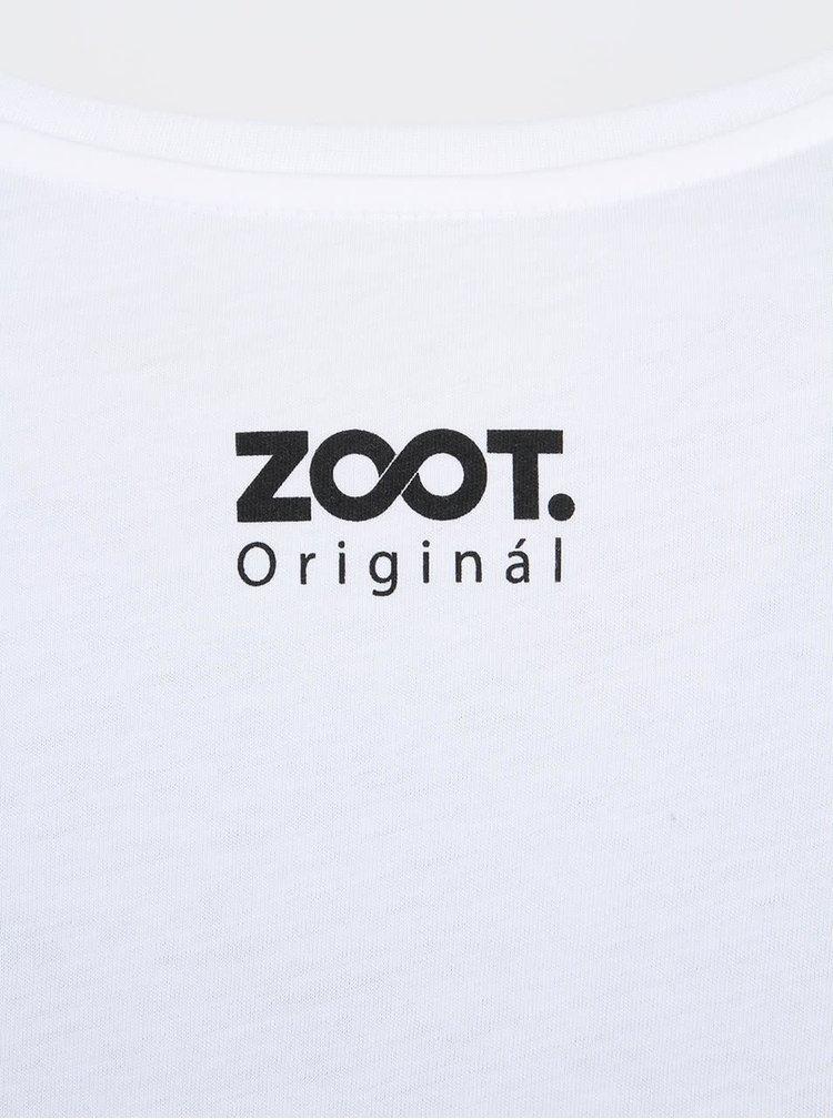 Tricou alb ZOOT Original Reindeer Print pentru femei