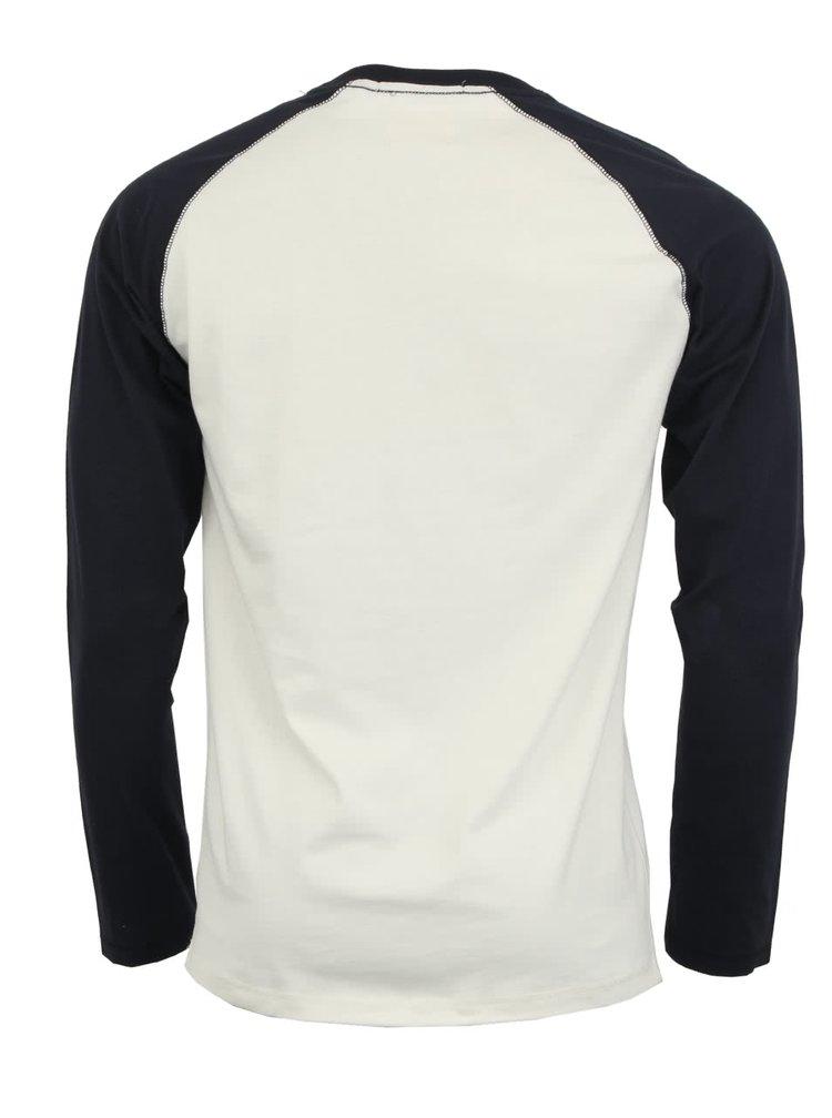Bílo-modré triko s dlouhým rukávem Selected