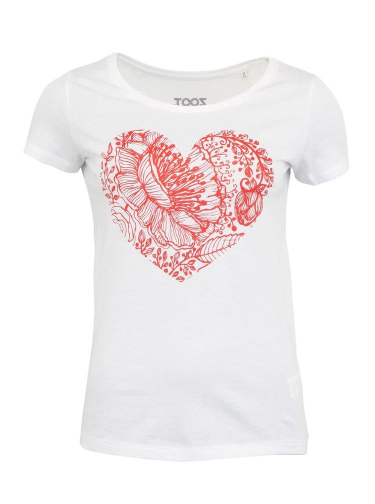 Dámske biele tričko ZOOT Originál Heart