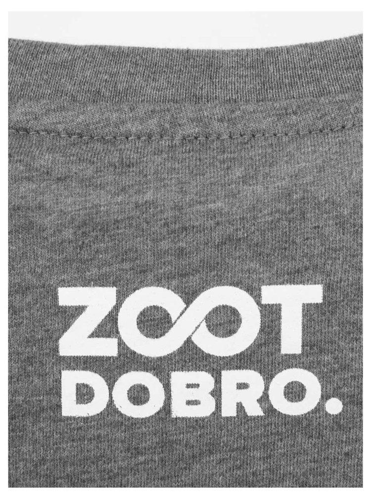 """Pánske sivé tričko Dobro """"Ukáž fúzy"""""""