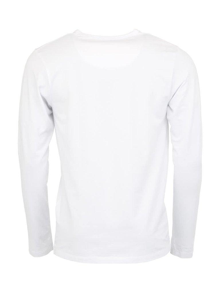 Bílé triko s dlouhým rukávem Jack & Jones Basic