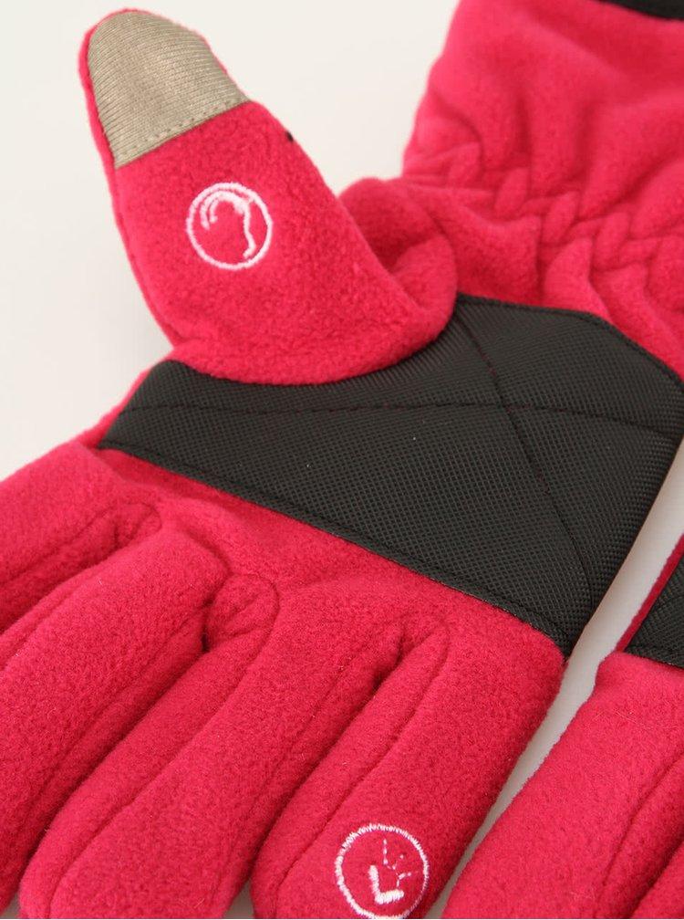 Dámské růžové rukavice Something Special s handsfree