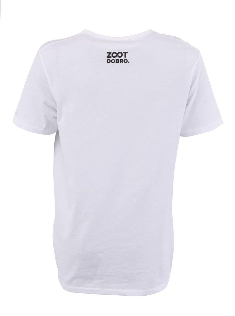 """Pánské bílé triko Dobro """"Ukaž knír"""""""
