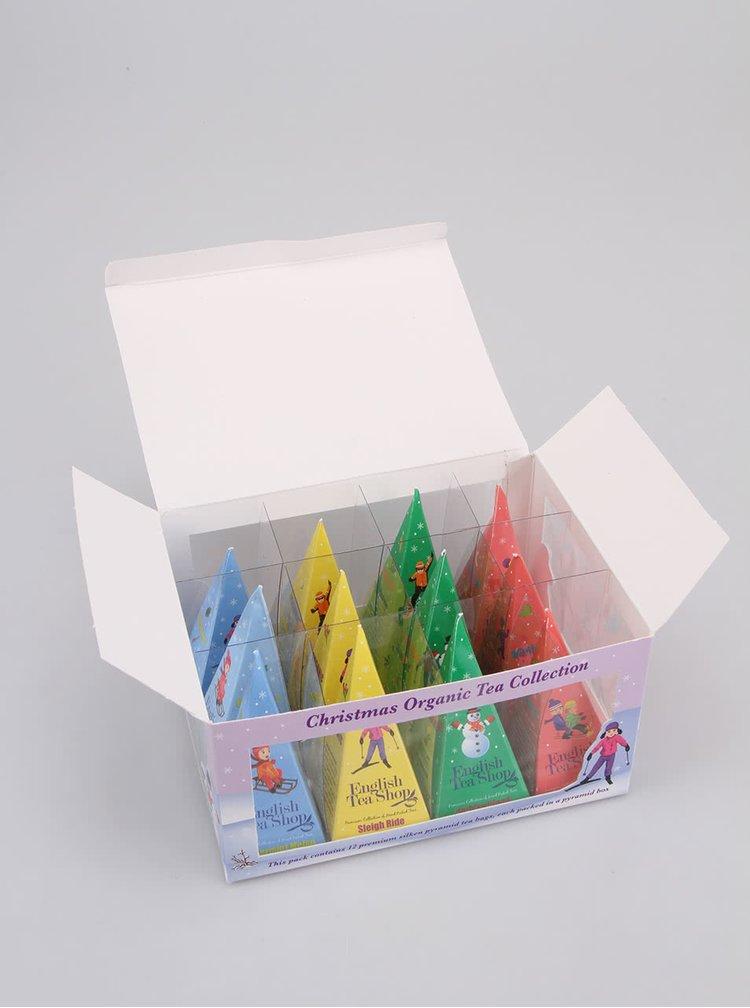 Darčeková škatuľka čajov English Tea Shop Lyžiari a sánkari