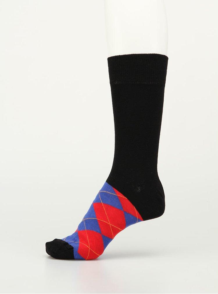 Sada šesti pánských v černé barvě vzorovaných ponožek Oddsocks
