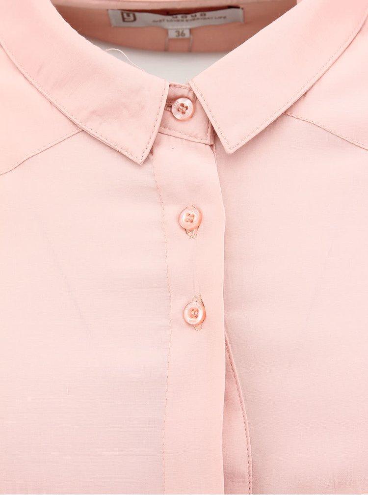 Svetloružová košeľa YAYA