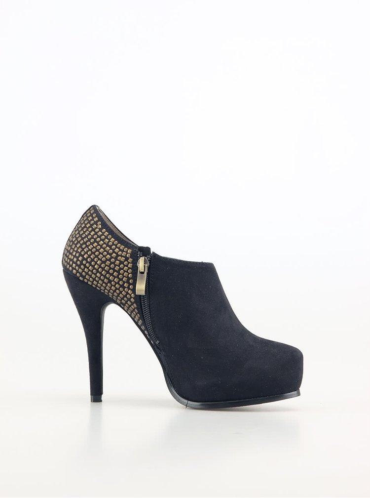 Pantofi sexy de la Victoria Delef - negri cu ținte