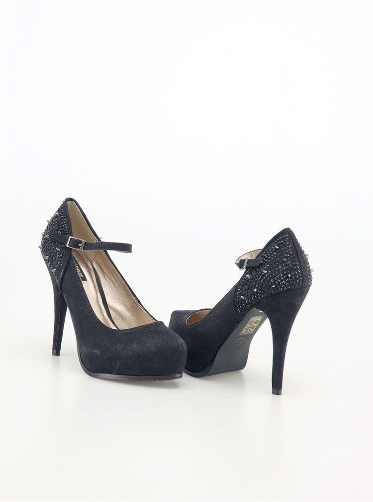 Pantofi negri cu toc cui Victoria Delef