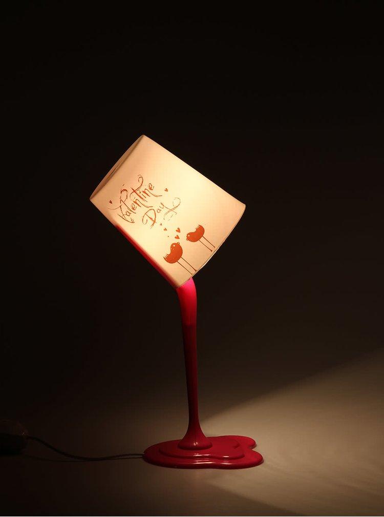 Růžová lampa i-DECO Fashion Lamp ve tvaru vylitého kbelíku