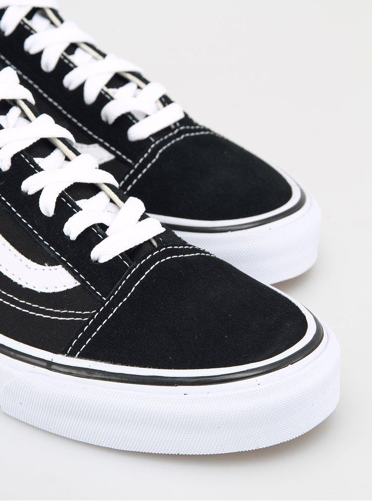 Černo-bílé tenisky se semišovými detaily VANS Old Skool