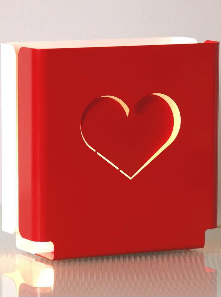 Červené designové světlo molight classic Love
