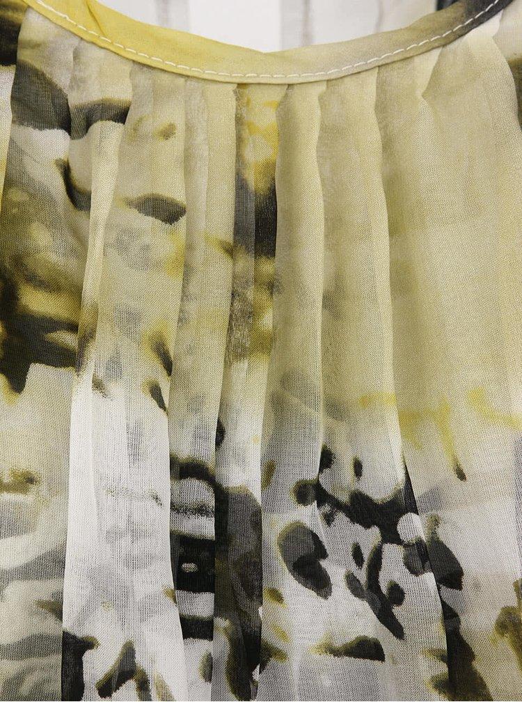 Tunică asimetrică cu imprimeu verde de la Fount